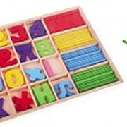 """Деревянная игрушка Рыжий кот """"Учусь считать"""", со счётными палочками, картон. уп., ИД-1396 фото"""