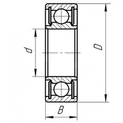 Подшипник шариковый 40x80x18 (SKF 6208 2RS1) фото