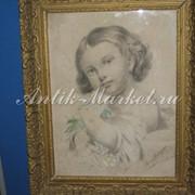 Портрет девочки, пастель, 1920 г. фото