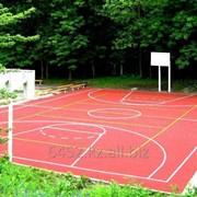 Полиуретановое покрытие для баскетбольных площадок фото