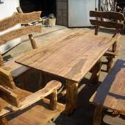 Наборы мебели для кухни из массива дерева фото