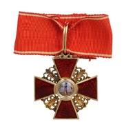 Знак ордена Св. Анны 3-й степени. фото
