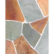 Плитняк натуральный камень златолит жёлтый зелёный фото
