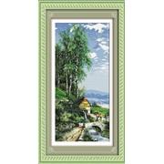 """Набор для вышивания нитками """"Мирная деревенька"""" 130069 фото"""