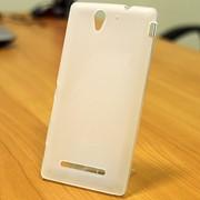 Чехол силиконовый матовый для Sony xperia С3 белый фото