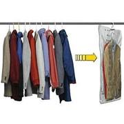 Вакуумный пакет 105х70 см с вешалкой для компактного хранения одежды фото