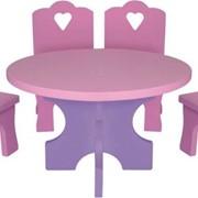 """Кукольная мебель """"Столик и стульчики"""" фото"""