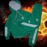 Детский спортивный костюм зеленый фото