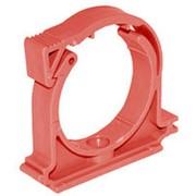МП Фиксатор для трубы 25 пластик с защелкой красный фото