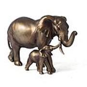 """Фигура декоративная """"Слоны-мама и малыш"""" 30*13*18см. 72534 фото"""