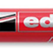 Перманентный маркер, круглый, заправляемый, 3 маркера одного цвета в наборе, блистер Красный фото