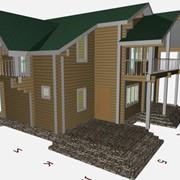 Проектирование домов из клееного бруса фото