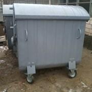 Мусорный контейнер 1,1 м3 крашеный на колесах фото