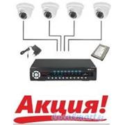 Монтаж систем безопасности из 4 Видеокамер фото