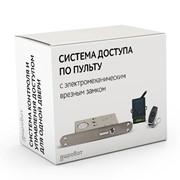 Комплект 57 - СКУД электрозамок невидимка с дистанционным доступом по радиопульту с электромеханическим врезным замком фото