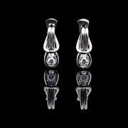 Серьги из платины с бриллиантами Металл: платина Вес изделия: 9,24г. Каратность: 0,36ct Вставка: бриллиант Цена: 26081 грн. Артикул: 09200599 пр-во ООО Всесвіт, Украина фото