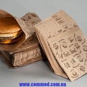 Упаковка бумажная для выпечки Уголок 140 х 140 мм с рисунком арт. 8.45 2000 шт. фото