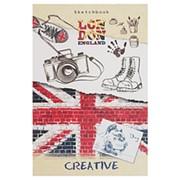 """Скетчбук Миленд """"Британский стиль"""", А6, 48 листов, КБС, глянц. ламинация, 48-6814 фото"""