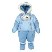 Зимний комбинезон для новорожденных, Голубой фото
