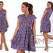Платье женское летнее синие VV/-037 фото