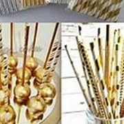 Бумажные палочки для кейк-попсов фото