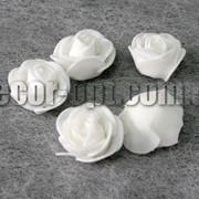 Голова белых роз d 3-3,5см из латекса/1 шт 276 фото