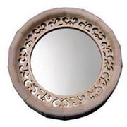 Зеркало для бани и сауны круглое фото