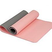 Коврик для йоги 6 мм TPE розовый IRBL17107-P фото