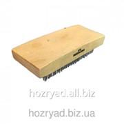 Щетка для чистки ткани малая деревяная (105 мм) с коротким белым ворсом (15мм) W-10/414 552-15 BLW-10/414 фото