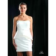 Платье свадебное короткое фото