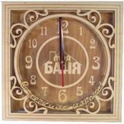 Часы для бани и сауны №3 квадратные фото