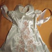Вышивка на крестильном детском платье фото