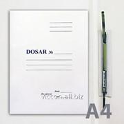 Папка-скоросшиватель, A4, белый мелованный картон MDSNA4T фото