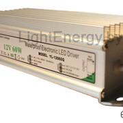 Герметичный блок питания в алюминиевом корпусе (12В, 5А/60Вт) фото