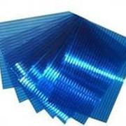 Поликарбонат сотовый 6 мм синий 12 м х 2,1 м фото