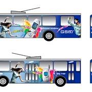 Реклама на маршрутках, троллейбусах, трамваях, городском транспорте фото