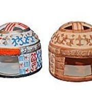 Юрта подсвечник из керамики фото