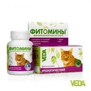 Фитомины с урологическим фитокомплексом для кошек 100 таб Veda фото
