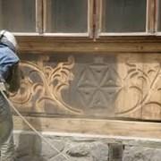 пескоструйная обработка деревянных поверхностей фото