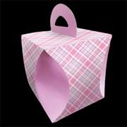 Коробка для кулича d90мм КЛЕТКА фото