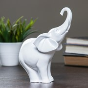 "Фигура ""Слон"" белый глянец 15х8х18см фото"
