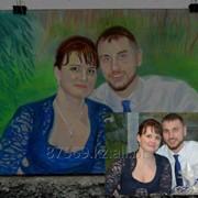 Рисованный портрет пастелью фото