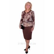 Платье Лилиана 1409 коричневое а. п фото