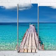 Модульна картина на полотні Морський міст код КМ100200(176)-042 фото
