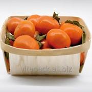 Плетеные чаши из шпона для фасовки мандаринов фото