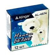 """Мелок 066797 Alingar AL 4874 ( БЕЛЫЙ / уп.12 шт.) """"Белый медведь"""" для рисования d=15 mm l=75 mm ( цена за упак.) фото"""