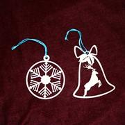 Сувенир деревянный Новогодние игрушки (двусторонние) фото