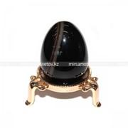 Сувенир Яйцо Черный Агат 220047 фото