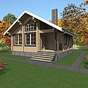 Проект 30, 67,0кв.м. Дом из профилированного бруса камерной сушки фото
