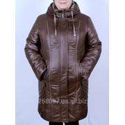 Куртка зимняя комбинированая - ЛОРА (ШОКОЛАД+КАПУЧИНО). M-302-Z#15#19 фото